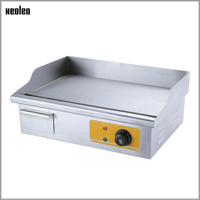 XEOLEO Commerciale grill Elettrico Piastra di controllo della Temperatura Elettrico in acciaio inox Piatto piatto piastra ali di Pollo Fritto 3KW