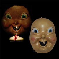 Takerlama Happy Death Day Cosplay Mask Creepy Baby Doll Mask Resin Hallween Horror Cosplay Props Full Face Mask Accessories