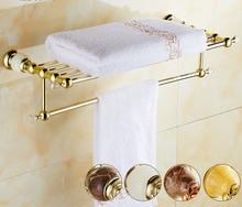 Горячая распродажа высокое качество ванной полотенцедержатель, Латунь вешалка для полотенец, 60 см полотенце бар, Полотенце полка