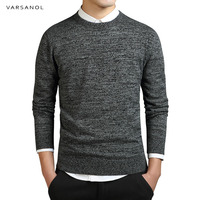 Varsanol Brand Clothing New Sweater Men S Long Sleeve Coat Solid Cotton Pullovers O Neck Knitted