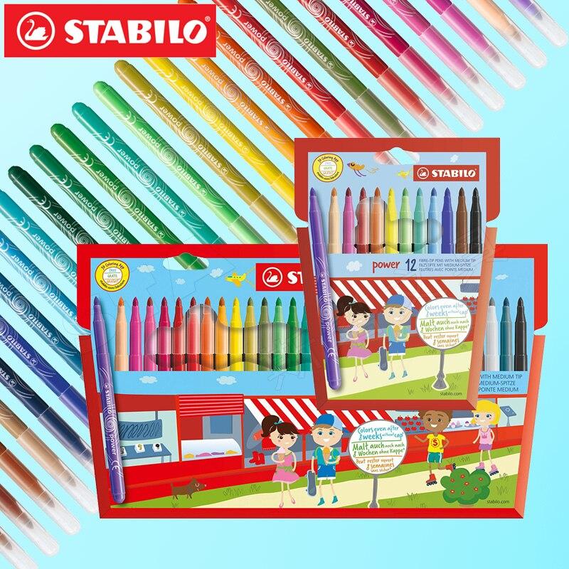 multicoloured STABILO Power Wallet Felt Tip Pen Pack of 30