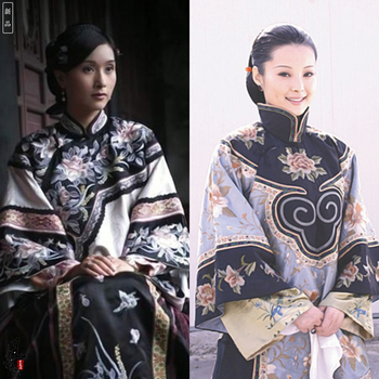 Famous Su Embroidery Late Qing Republican Period Rich Lady Costume XiuHeFu for TV Play HuiZhou Women Drama Stage Hanfu