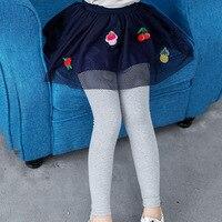 冬暖かい女の子スカートレースイチゴ女の子スカートクリスマス暖かい子供服2ピースパンツとスカート子供秋
