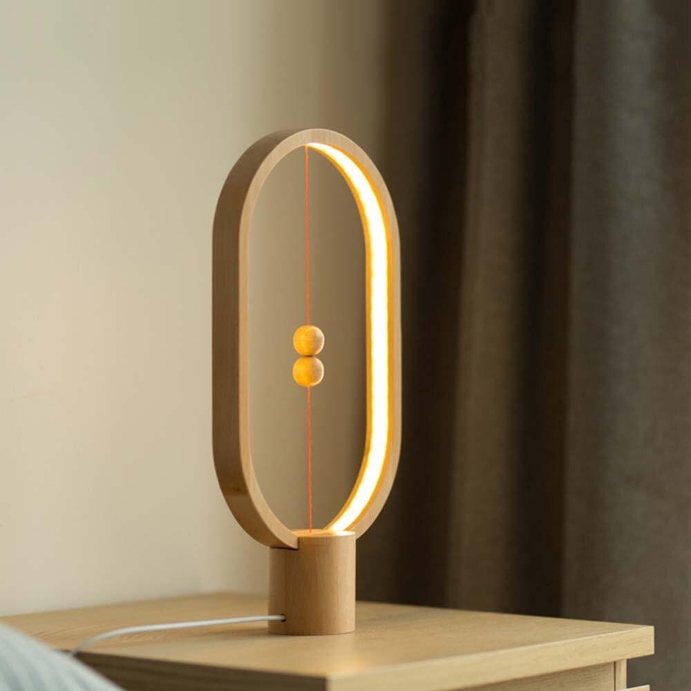 Современная Новинка магнитный переключатель светодиодный дерево Настольные лампы отель Спальня Гостиная Свадебные Книги по искусству Дек