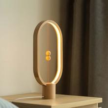 Modern Novelty Magnetic Switch LED Wood Desk Lamps Hotel Bedroom Living Room Wedding Art Decor Bedside Table Lamp Night Light