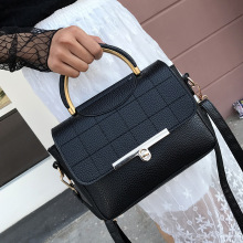 ONEFULL New FASHION  diamond lattice pu leather cover shoulder bag women casual leisure handbag korean brand solid bags