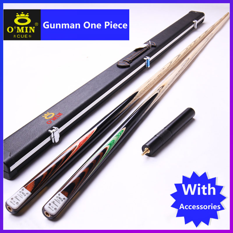 2019 Handmade Gunman O MIN One Piece Billiards Snooker Cue 9 5mm 10mm Tip with Snooker