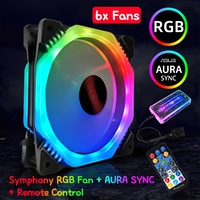 Computer Gaming Case PC Cooling Fan RGB Adjust LED 120mm Quiet Symphony AURA SYNC Music Control Cooler Cooling RGB Case Fan CPU