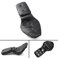 Black Leather Driver&Passenger Seat 2 up For Motorcycle 1988 1993 Honda Shadow VLX 600/VT600 1989 1990 1991 1992