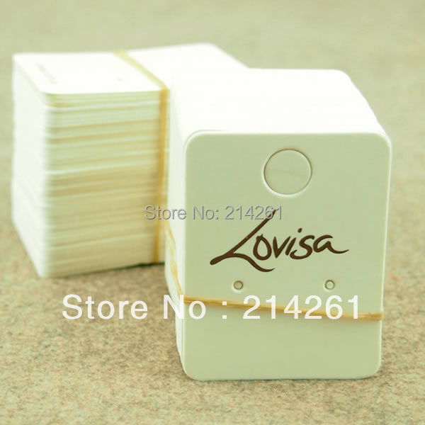 Whole Free Shipping Custom Logo Display Earring Card Printting Name Printing Your Own Brand Size