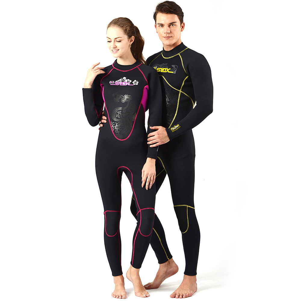 Diving Wetsuits Men Women 3MM Neoprene Diving Suit One Piece Long Sleeve Full Bodysuit Swimwear Spearfishing Surf Scuba Swimsuit цена