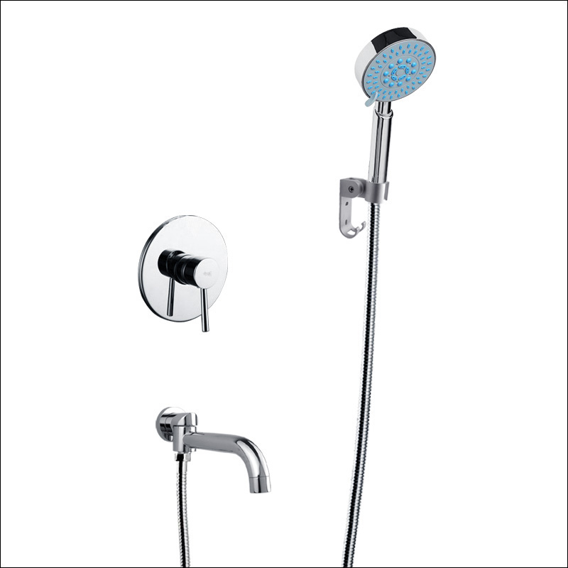 Chrome Finish Shower Mixer Faucet for Bathroom Wall Mounted Single Handle free shipping wall mounted two handle thermostatic shower faucet thermostatic mixer shower taps chrome finish yt 5311 a
