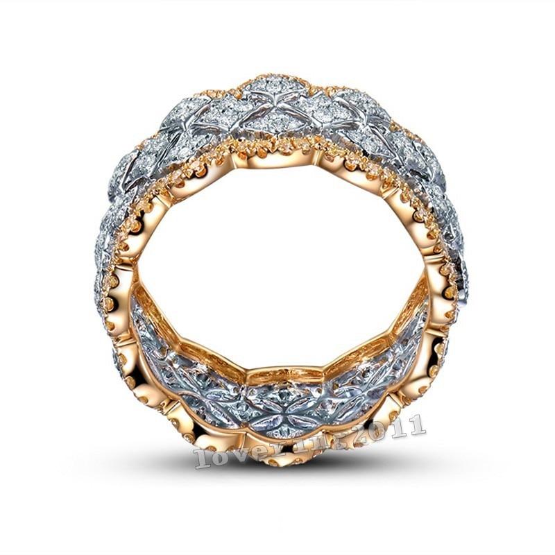 Size5-11 Stunning Unique Desgin Mewah Perhiasan 214Pcs AAA CZ 925 - Perhiasan fesyen - Foto 3