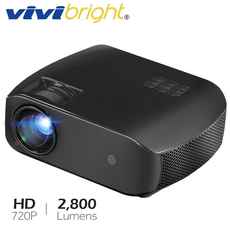 Projecteur LED VIVIBRIGHT F10, Android 7.1, WIFI Bluetooth, MINI projecteur le plus récent, prise en charge Full HD 3D, 2800 Lumens, TV Laser HDMI