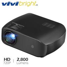VIVIBRIGHT светодиодный проектор F10, 3D HD домашний кинотеатр, новейший мини-проектор Поддержка Full HD 1080 p, 2800 люмен, HDMI лазерный ТВ