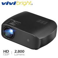 VIVIBRIGHT LED Projector F10,Android 7.1,WIFI Bluetooth,Newest MINI Projector,Support Full HD 3D, 2800 Lumens, HDMI Laser TV