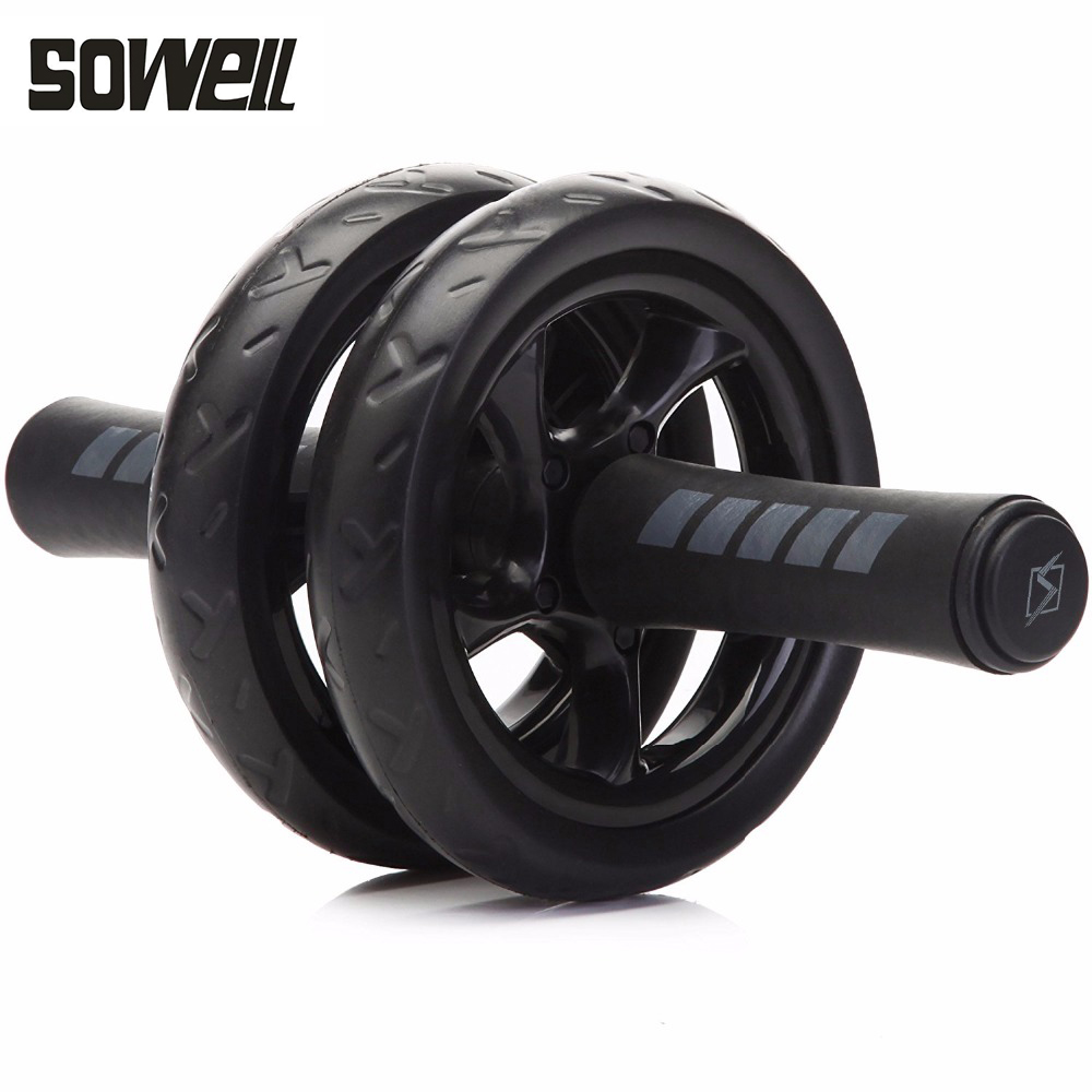 No Noise Abdominal Wheel Ab Roller With Mat For Gym Exercise Fitness Equipment fitness new arrival high quality exercise equipment professional 4 wheels abdominal ab roller indoor fitness crossfit equipment