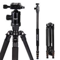Zomei Z688 Portable Camera Tripod Monopod With Ball Head Quick Release Plate Carrying Case For DSLR SLR Camera