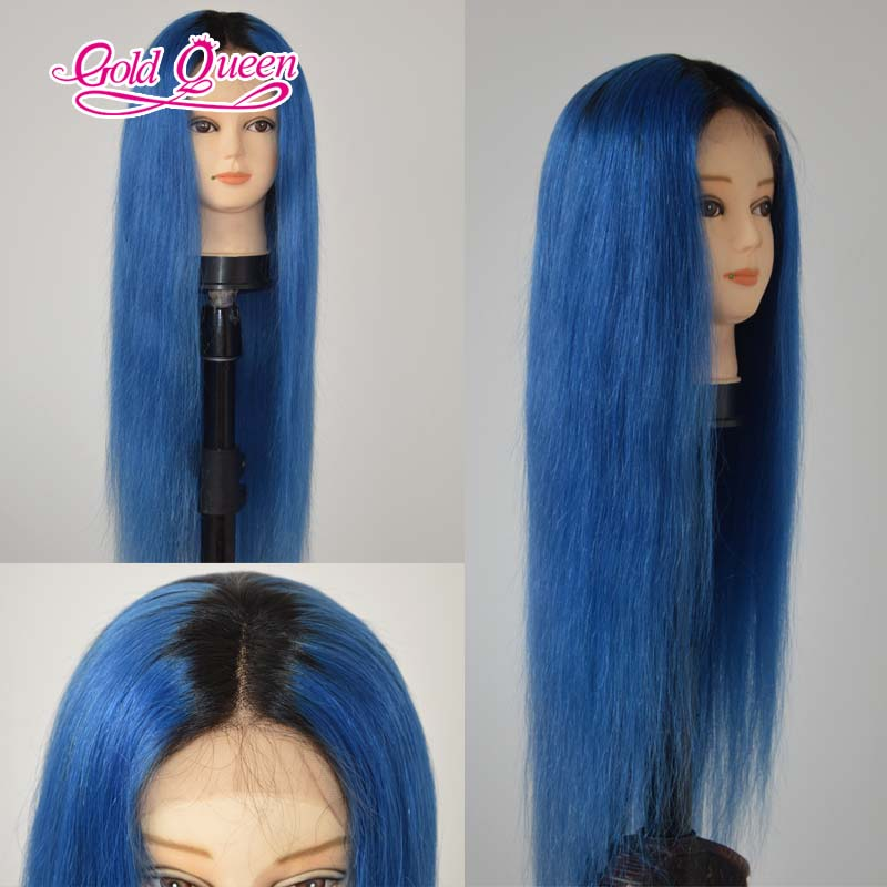 2016 straight human hair ombre blue wig 7a 130 density tow tone 2016 straight human hair ombre blue wig 7a 130 density tow tone brazilian virgin full lace front human hair wigs ship by dhl in human hair lace wigs from solutioingenieria Choice Image