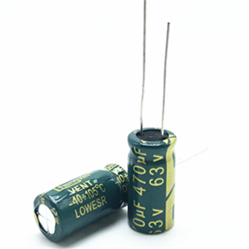 6pcs/lot 63V 470UF 10*20 High Frequency Low Impedance Aluminum Electrolytic Capacitor 470uf 63V 20%