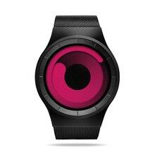 Creative Quartz Watches Men Top Luxury Brand  Casual Stainless steel Mesh Band Unisex Watch Clock все цены