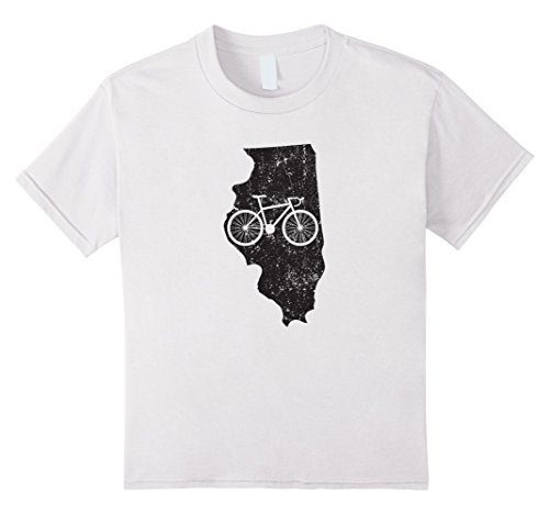 Cute Unique & Vintage <font><b>Illinois</b></font> Cyclings T-Shirt & Gift O-Neck Sunlight Men T-Shirt Top Tee O Neck T Shirt O-Neck Stylish image