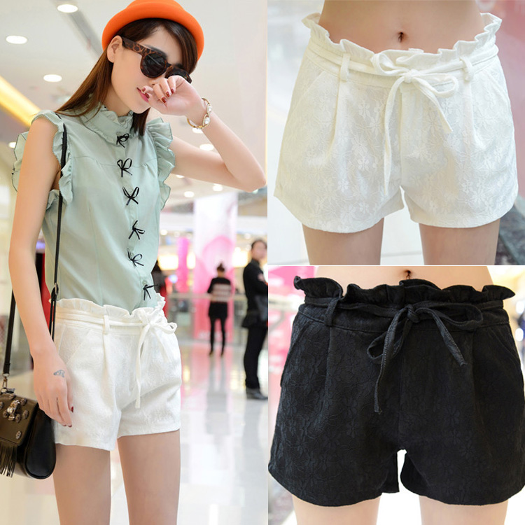 New-Arrival-Hot-sale-new-2015-summer-women-ladies-casual-shorts -with-Waistband-Lace-cool-walking.jpg