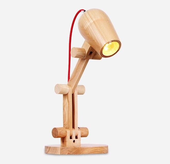 Европейский Винтаж личность Лофт модные деревянный стол света Спальня прикроватные исследование украшения Настольная лампа Бесплатная до...