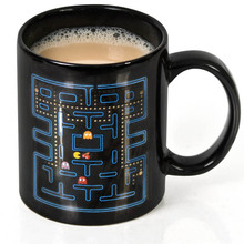 1 Stück 300 ml PAC-MAN Keramik Kaffee Tee Becher Und Tassen Adron Deluxe Wärmeempfindlichen Farbwechsel Einzigartige Trinkbecher