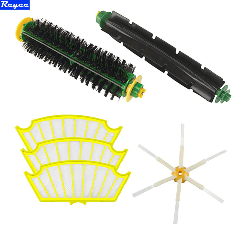 New Filter Side Brush Filters Bristle Brush Flexible 6 Armed Mini Kit for iRobot Roomba 500 Series Free Shipping Lot ntnt free shipping side brush filters 6 armed mini kit for irobot roomba 500 series