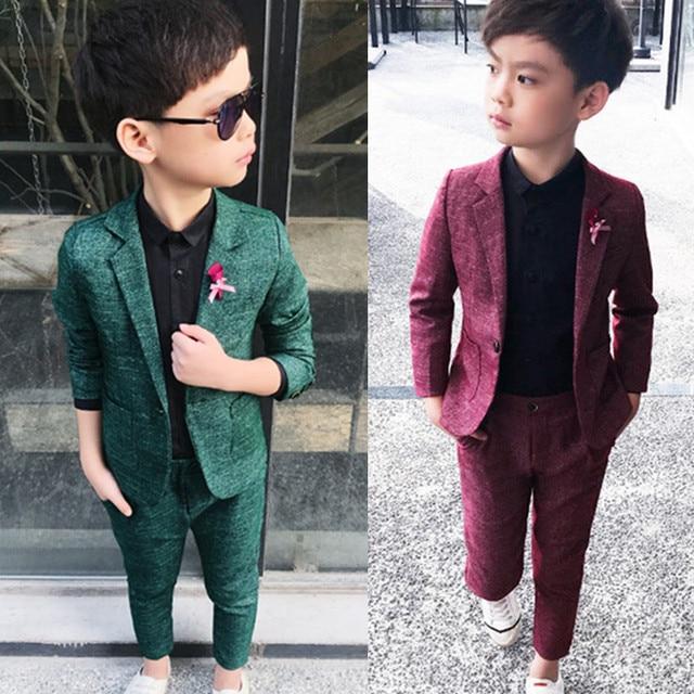 Verde azul y vino ropa para niños trajes niño abrigos establece nuevo bebé  traje de ocio 13c0756871f