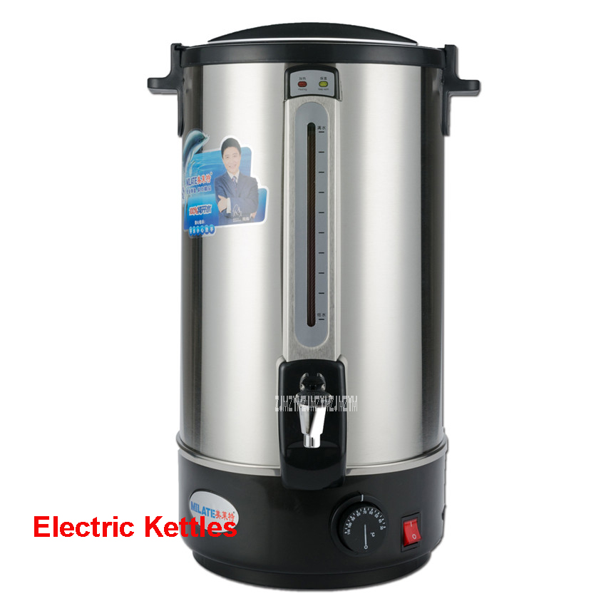 Hot sale 30l 35l 220 v/50 Hz double layer steel stainless steel water heaters 30-110 degree set electric kettle water heating hot insulated double layer proof electric kettle anti dumping stainless steel kettles overheat protection