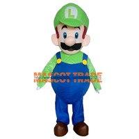 Взрослый Луиджи Талисмана Марио костюм для продажи