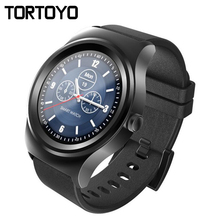 SMA-R Bluetooth Smartwatch Sport Fitness Pedometer Heart Rate Monitor Leather Smart Watch Wristwatch Phone Clock for iOS Android
