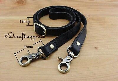 Shoulder Strap For Bag Leather Purse Handles Strap For Handbag 46.5 Inch Black AT29
