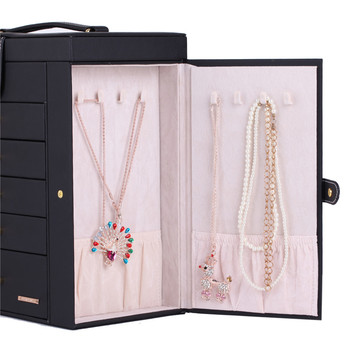 Extra Large Jewelry Box Velvet Display Organizer Packaging Girls Earring Necklace Ring jewellery Storage Holder