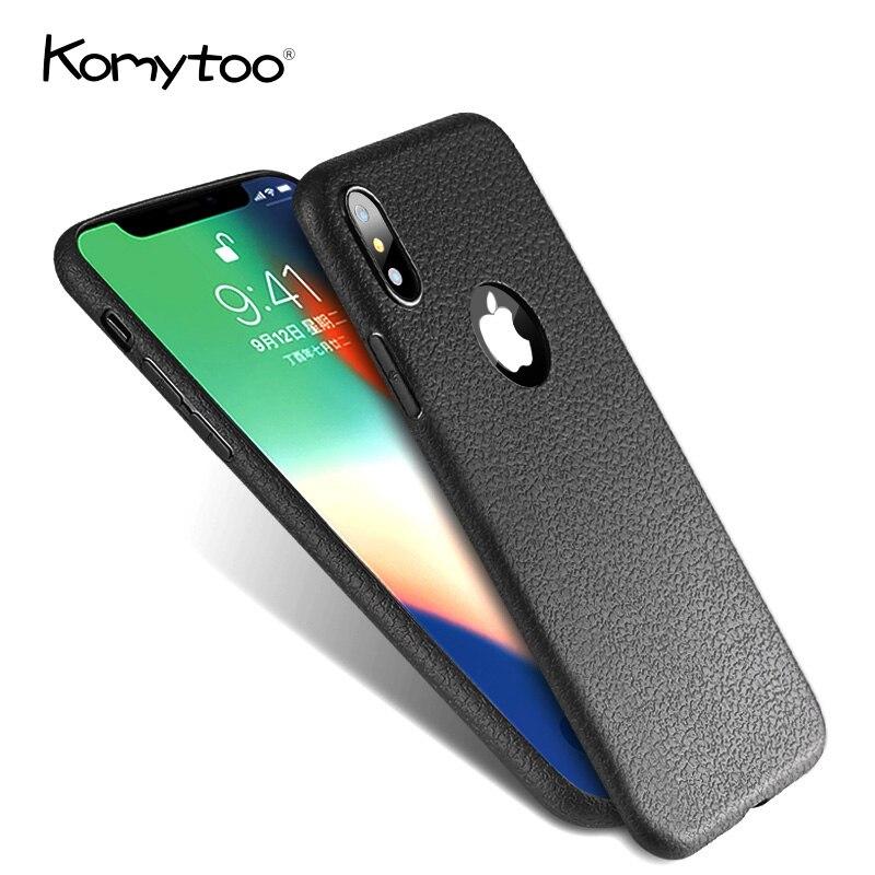 Модные Бизнес тонкий мобильный телефон оболочки для iPhone 6 7 8 Plus X Тонкий кожаный кожу мягкой ТПУ Силиконовый протектор чехол для iPhone X