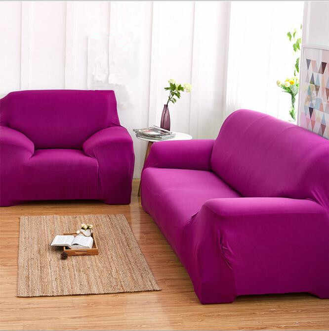 Solid color elastic sofa sets - universal sofa cover sets anti-slip full cover sofa pad cover four seasons cloth cover for sofa