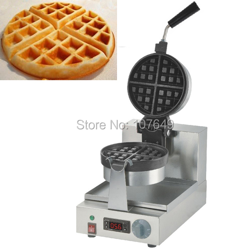 110V 220V Commercial Use Non-stick Electric 180 Degree Waffe Maker Iron Machine Baker with Digital Display