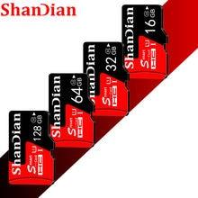 Cartão de memória flash da classe 10 micro sd 32gb sdcard para o smartphone/câmera cartão de alta velocidade 8gb 16gb 32gb 64gb do sd de shandian