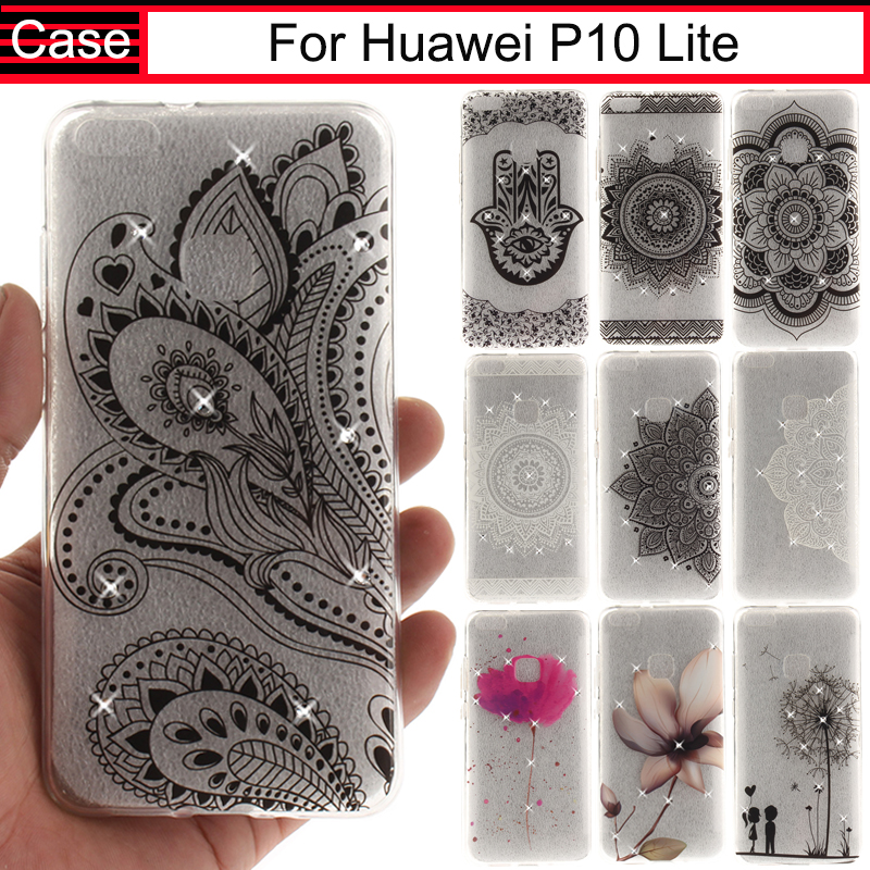 JURCHEN Phone Cases For Huawei P10 Lite Silicon Case Glitter TPU Soft For Huawi P 10 Lite Case Cover For Huawei P10Lite Funda ...
