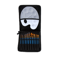Ucuz Yeni Sıcak 12 adet Yuvarlak Sivri İpucu Naylon Saç Sanatçı Suluboya Akrilik Yağlıboya Fırçası Seti