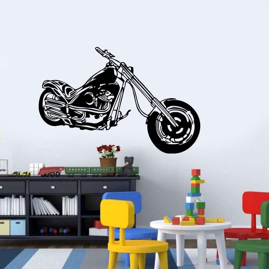 Chopper stickers muraux bricolage amovible vinyle moto wall sticker decal murale décor pour chambre enfants décoration dans la chambre dans stickers muraux