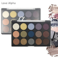 LOVE ALPHA 15 Colors Eyeshadow Palette Shimmer Matte Natural Fashion Light Make Up Eye Shadow Cosmetics