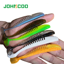 5pcs Soft Fishing Lure Silicone Bait Shad 100mm 5g Swimbait Vivid Pike Bass Lure Isca Artificial Bait Fishing Tackle Johncoo