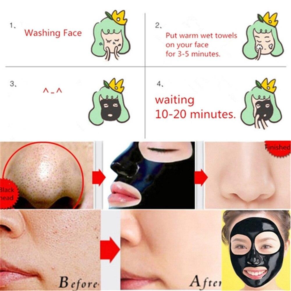 Blackhead Removal Nature Dead Sea Mud Black Mask Deep Clean Peel Off Mask Pores Shrinking Acne Treatment mee-eter verwijderaar 4
