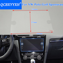 Car Styling GPS Navigation Screen Glass Protective Film For VW Polo Golf Sportsvan 2018 Control of LCD Screen Car Sticker