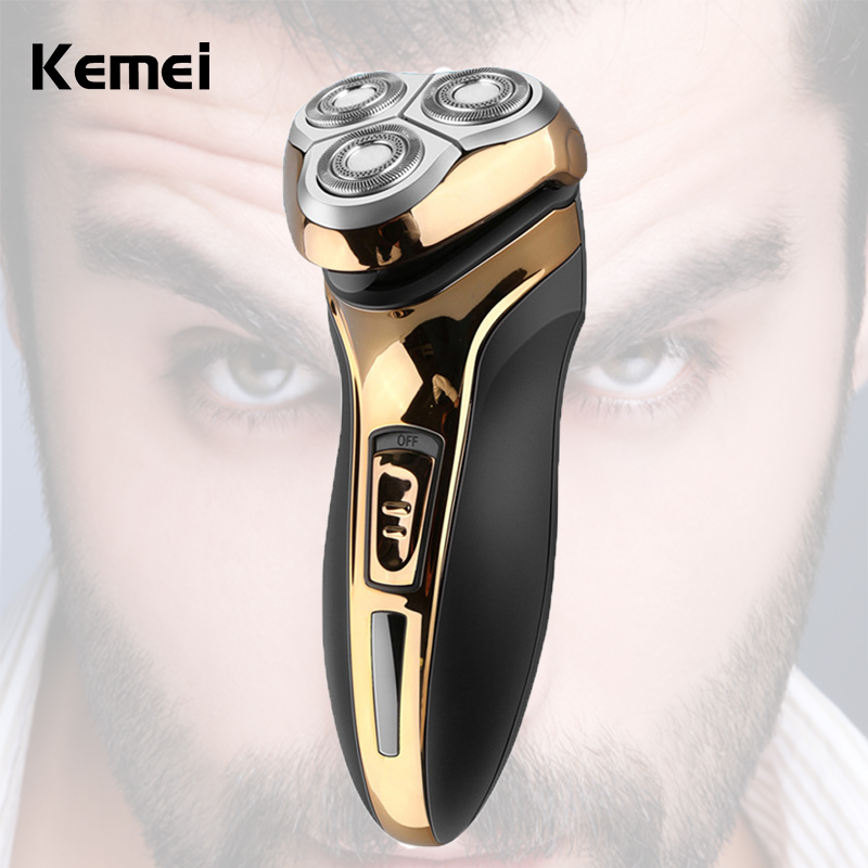 Hot Washable Men Rechargeable Electric Shaver Portable Floating Head Triple Blade Razor Beard Trimmer Face Skin Care Easy Clean