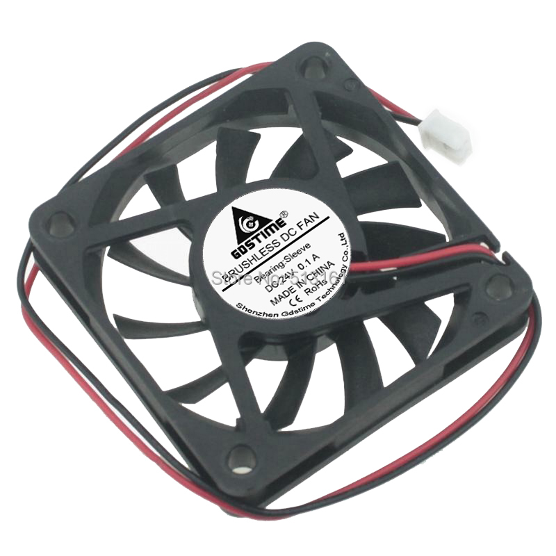 Купить с кэшбэком 5pcs/lot Gdstime 24V 2Pin 60mm 60x60x10mm Ventilation DC Computer Cooler Cooling Fan