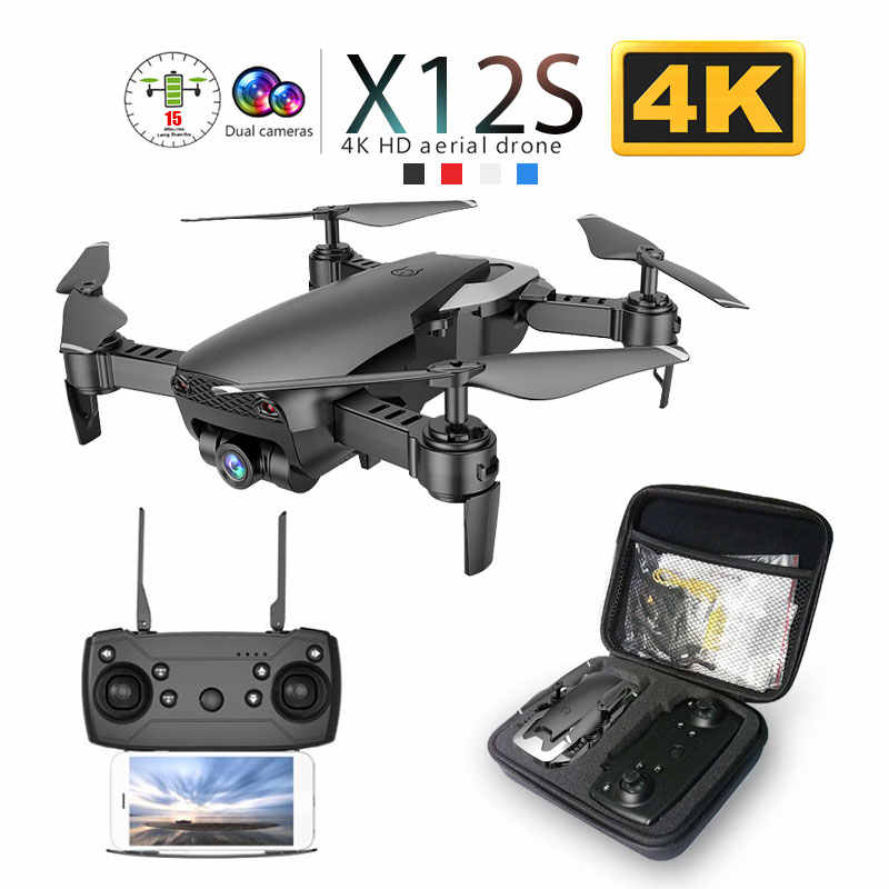 X12 X12S Wi-fi FPV RC Drone com 0.3MP/1080 P/4 K HD Dual Camera Optical Flow RC quadcopter para Brinquedos Do Miúdo Dron vs SG106 Visuo xs816